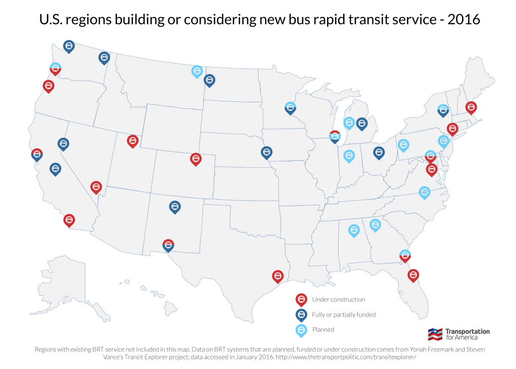 Bus rapid transit coming soon graphic map